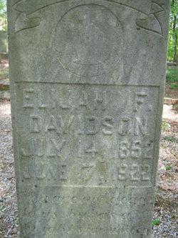 Elijah Frederick Davidson