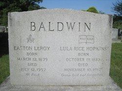 Lula Rice <i>Hopkins</i> Baldwin