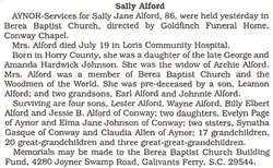 Sally Jane <i>Johnson</i> Alford