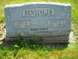Alice May <i>Wesner</i> Bensinger