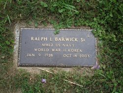 Ralph L Barwick, Sr