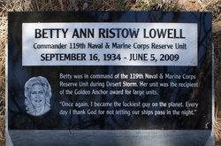 Betty Ann <i>Ristow</i> Lowell