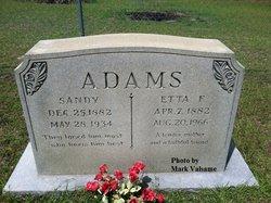 Alonzo Sanford Sandy Adams