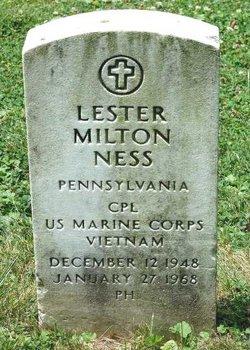 Corp Lester Milton Ness