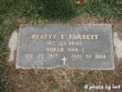 Beatty E Turbett