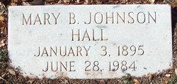 Mary Elizabeth Mary B <i>Johnson</i> Hall