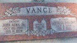 Gertrude <i>Halliday</i> Vance