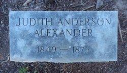 Judith <i>Anderson</i> Alexander