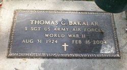 Thomas G Bakalar