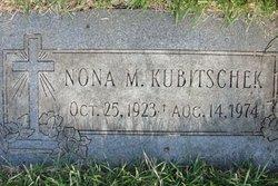 Winona M Nona <i>Baker</i> Kubitschek