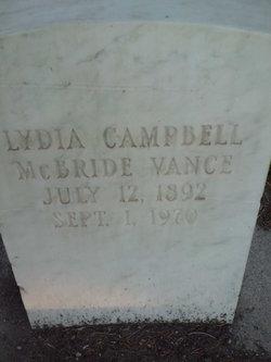 Lydia <i>Campbell</i> Vance