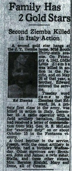 PFC Edward J Ziemba