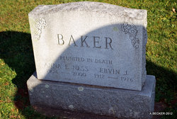 Anna E <i>Ness</i> Baker