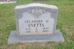 Arlander H Evetts