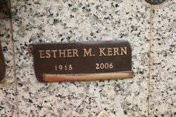 Esther M <i>Buhrle</i> Kern