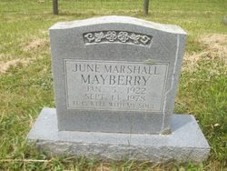 Nellie June <i>Marshall</i> Mayberry