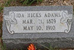 Ida <i>Hicks</i> Adams