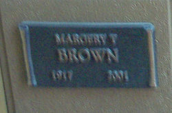 Margaret V Brown