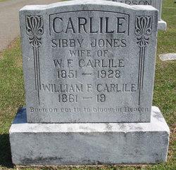 Sibby <i>Jones</i> Carlile