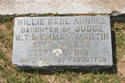 Willie Babe <i>Martin</i> Arnold