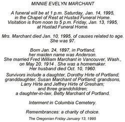 Minnie <i>Rankin</i> Marchant