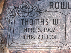 Thomas Wendell Rowley