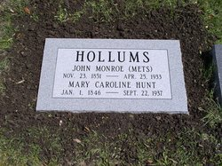 Mary Caroline <i>Hunt</i> Hollums