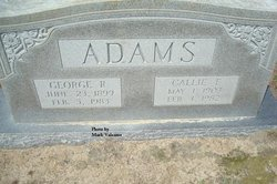 Callie Mae <i>Ennis</i> Adams