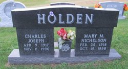 Mary M. <i>Nichelson</i> Holden