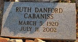 Ruth <i>Danford</i> Cabaniss