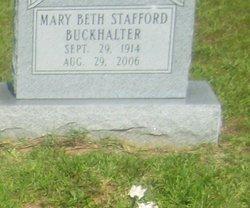 Mary Beth <i>Stafford</i> Buckhalter