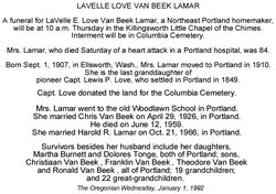 La Velle <i>Love</i> Van Beek