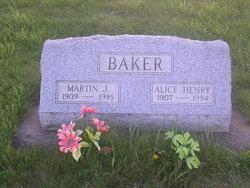 Alice Evelyn <i>Henry</i> Baker
