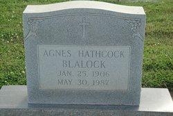 Agnes <i>Hathcock</i> Blalock