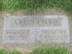 Frederick J Archambo