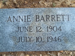 Annie Ruth <i>Barrett</i> Barrett