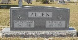 Rossie Emma <i>King</i> Allen