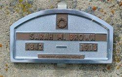 Sarah Matilda <i>Francis</i> Brown