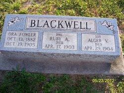 Ora <i>Fowler</i> Blackwell