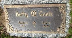 Betty M. Goetz