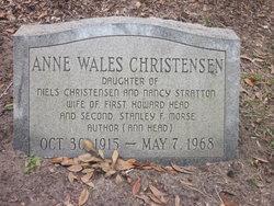 Anne Wales <i>Christensen</i> Morse