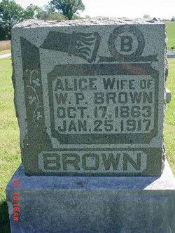 Alice <i>Shirk</i> Brown