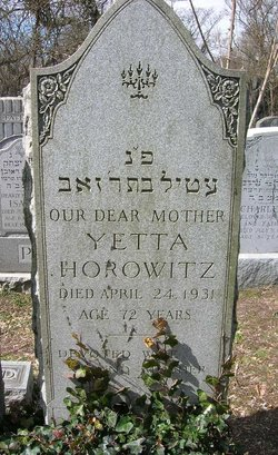 Yetta <i>Oppenheim</i> Horowitz