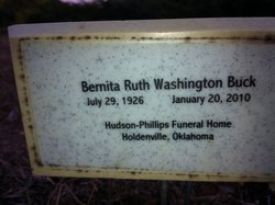 Bernita Ruth <i>Washington</i> Buck