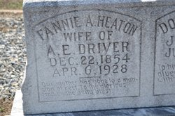 Martha Frances Ann Fannie <i>Heaton</i> Driver