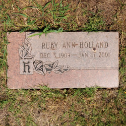 Ruby Ann <i>Cox</i> Holland