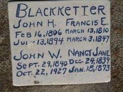 Frances E. <i>Hamner</i> Blackketter
