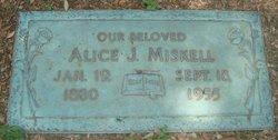 Alice J Miskell