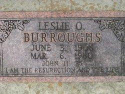 Leslie O Burroughs