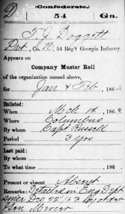 Pvt Thomas J Doggett